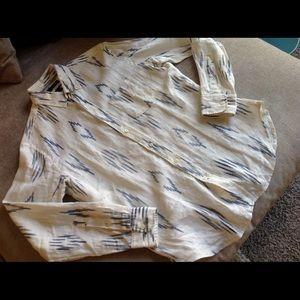New Banana Republic Camden Fit linen men's shirt S